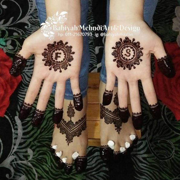 Servis Lukis Inai Henna Cantik Di Melaka Bahiyah Mehndi Art Design Ayue Idris