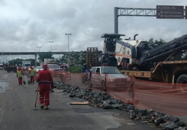 Governo de Pernambuco retoma obras  de recuperação da BR 101