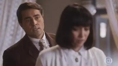 Almeida e Clotilde em cena da novela Éramos Seis (Foto: Reprodução)