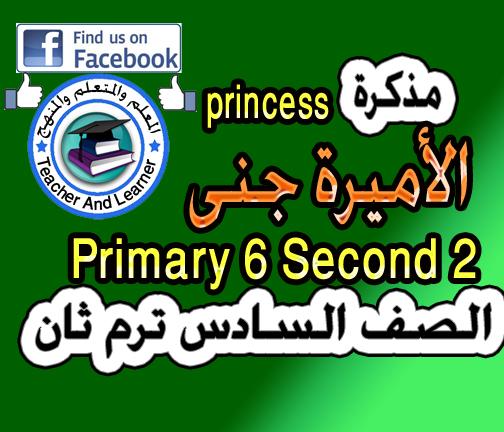 حصرياً تحميل مذكرة الأميرة جنى في اللغة الإنجليزية للصف السادس الترم الثاني primary 6 term 2