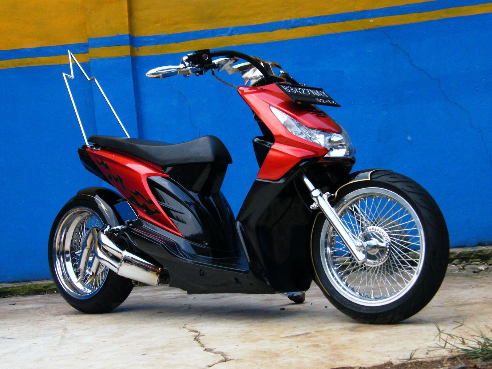 108 Modifikasi Motor Honda Beat Warna Hijau Putih Modifikasi Motor