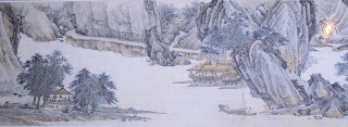 το έργο Ταξιδεύοντας κατά μήκος του Διάφανου Ποταμού του Wu Hong στην έκθεση Θησαυροί από το Μουσείο της Σαγκάης στο Μουσείο της Ακρόπολης
