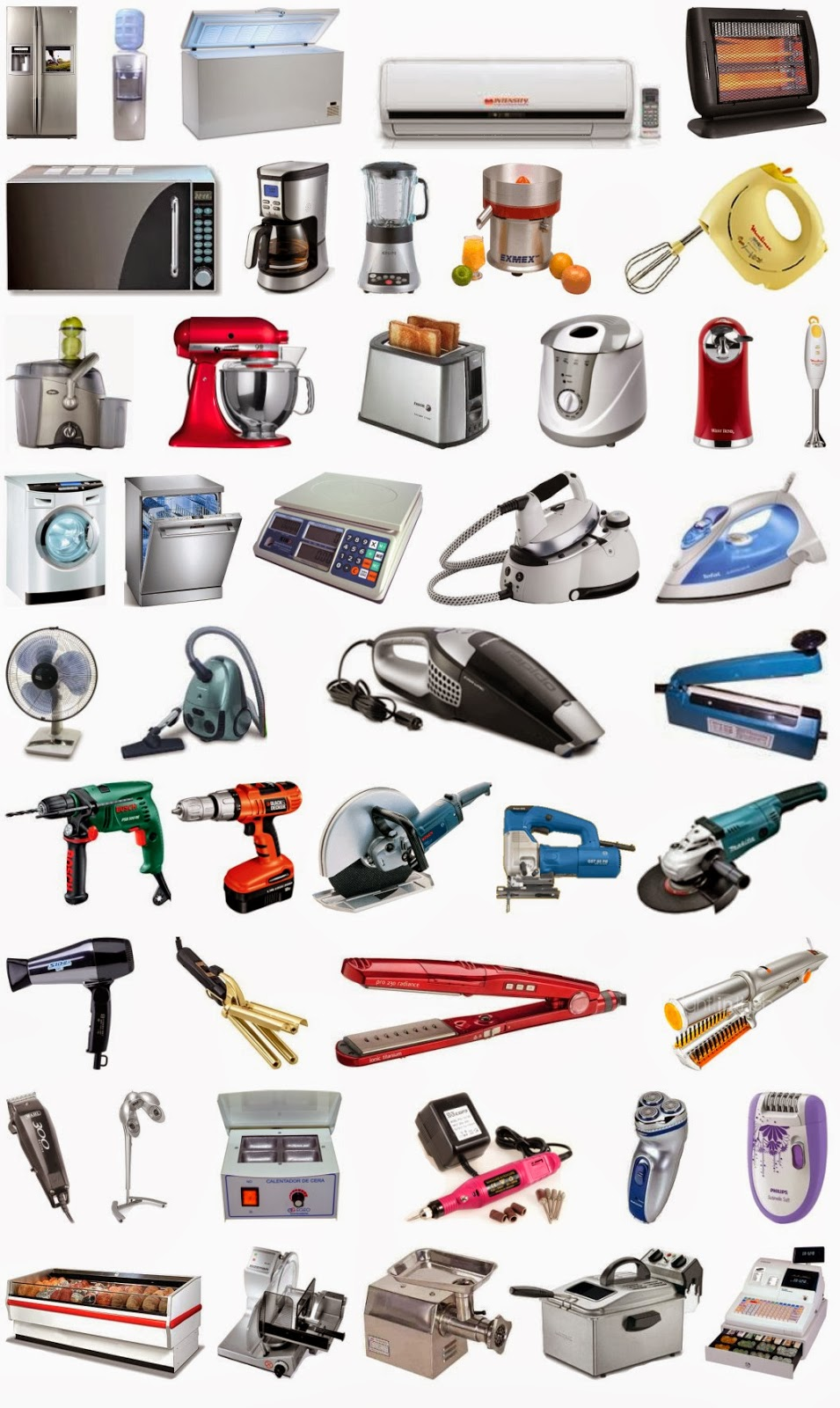 Aparatos Eletrodomésticos-www.cursosdeelectronicagratis.com-