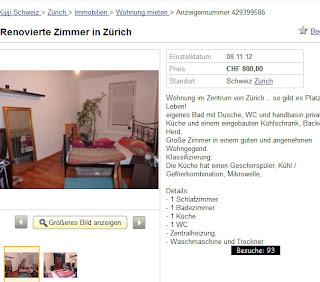 Renovierte zimmer in z rich for Wohnung mieten suchen