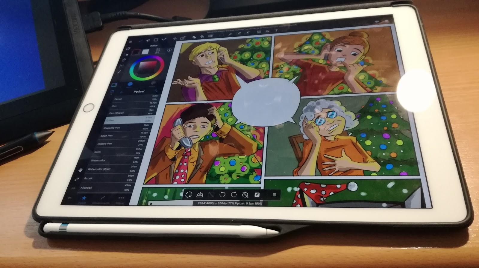 Przygody rysownika : iPad pro 12,9 - Doskonały tablet dla