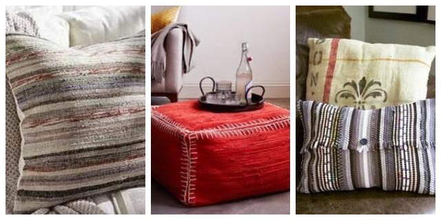 DIY μαξιλάρια απο κουρελούδες