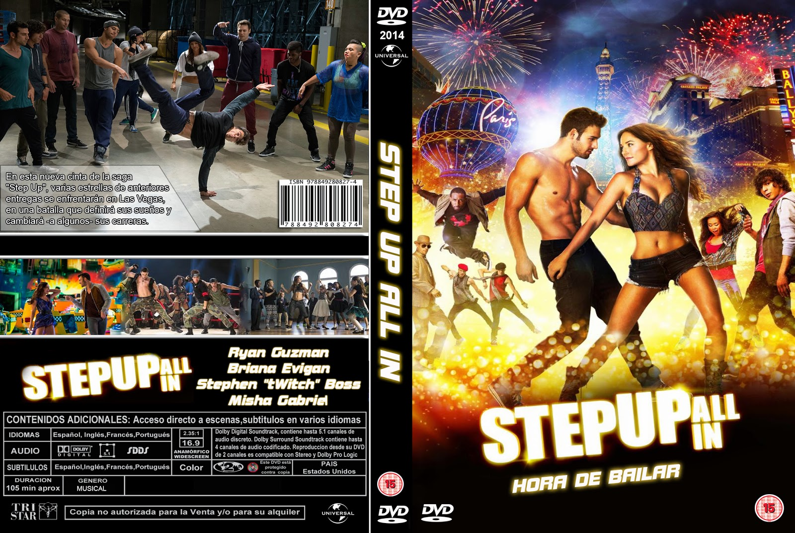 PB | DVD Cover / Caratula FREE: STEP UP ALL IN - DVD COVER ...