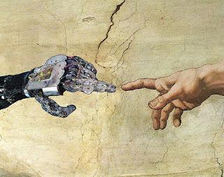 """""""Сотворение Адама"""" картина в современном стиле"""