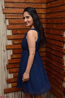 Radhika Mehrotra in a Deep neck Sleeveless Blue Dress at Mirchi Music Awards South 2017 ~  Exclusive Celebrities Galleries 090.jpg