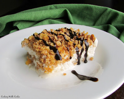 easy fried ice cream bar drizzled with chocolate syrup