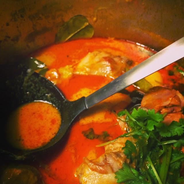 Thai rød karry med kartofler