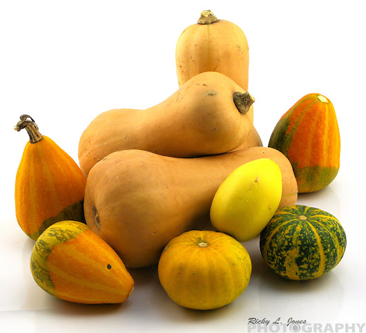 Butternut Squash with Gourds