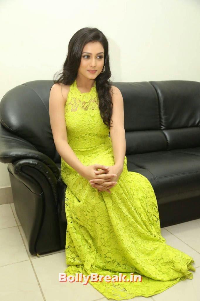 Mishti Chakraborty Images, Mishti Chakraborty hot Hd Images in Green Dress