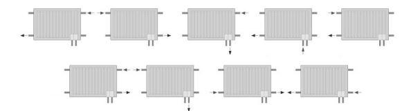 Conexiones radiadores H2O Climastar