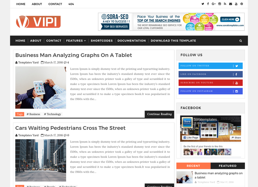 Vipi blog blogger template blogger templates gallery vipi blog blogger template cheaphphosting Gallery