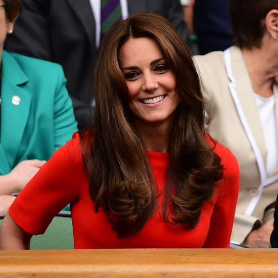 Catherine, Duchess of Cambridge and Prince William, Duke of Cambridge attend day nine of the Wimbledon Tennis Championships at Wimbledon