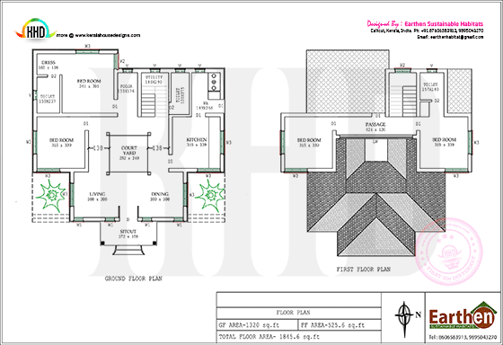 Floor plan of Earthen Habitat home