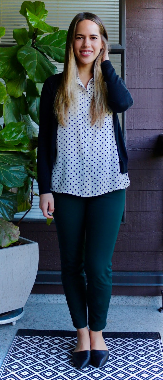 Jules in Flats - Polka Dot Top for Spring