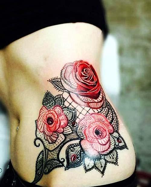 dantel dövmeleri lace tattoos 27