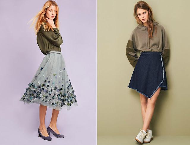 Сочетание хаки и синего в одежде