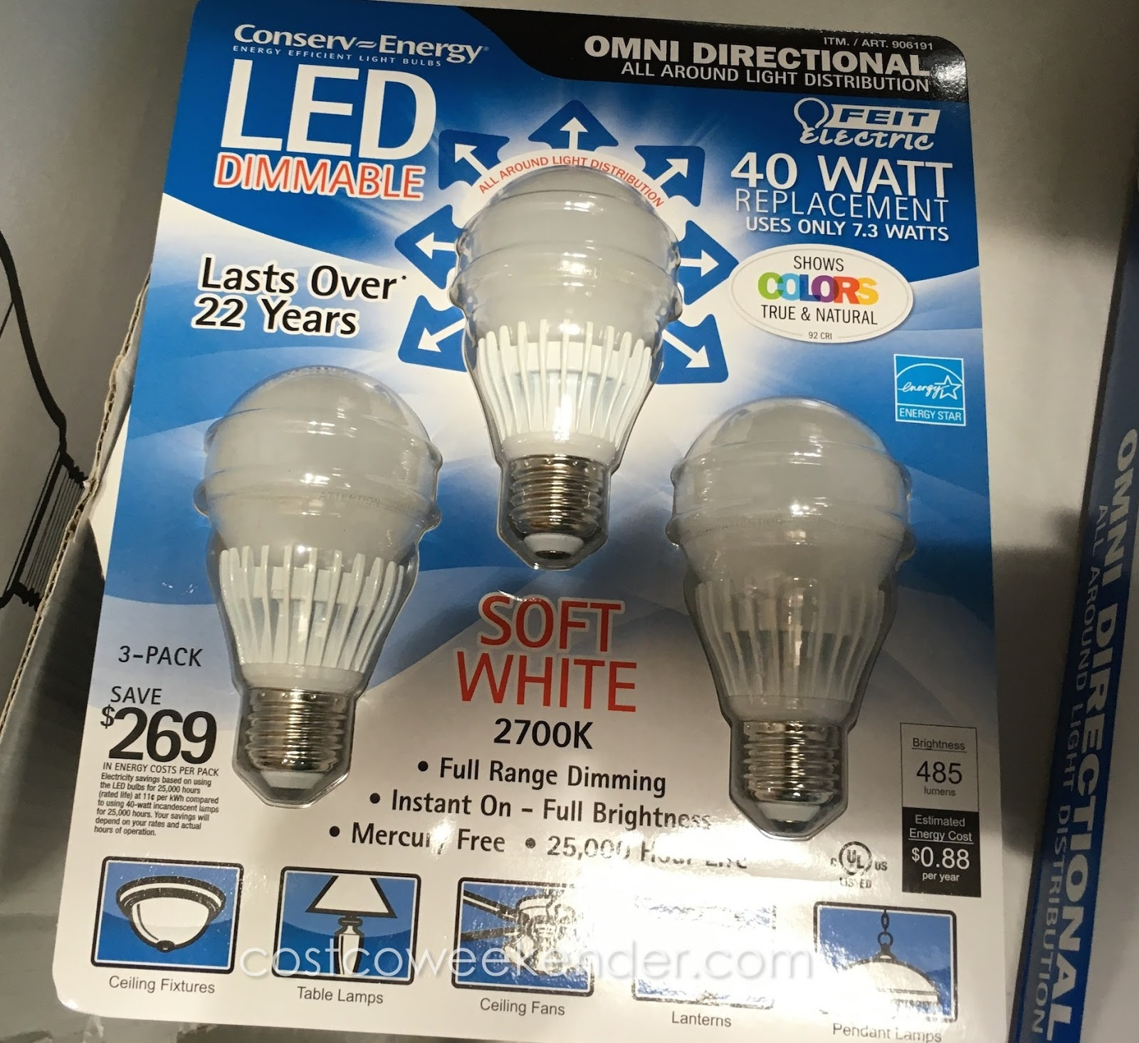 View Colors As They Really Are With The Feit Electric 40 Watt LED Dimmable Replacement  Bulbs Photo