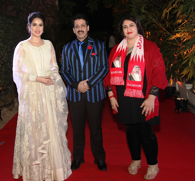 Actress Sagarika Ghatge, Mr. Gaurav Grover and Maram Anwar J Al Saleh-min
