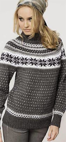 7d43e6a9 Herlig! Nå kan alle finne gratismønster med diagram hos nettsiden til  Familien. Her finner du oppskriften på genseren :-)