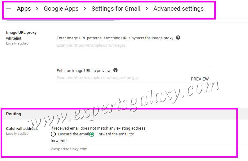 Setup Forwarder Email Address