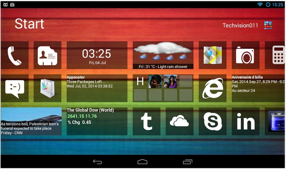 Home8+ like Windows 8 Launcher v3.1.1 Apk