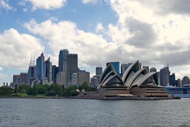 Sydney, Sicht, Aussicht, Meer, Opernhaus, Skyline