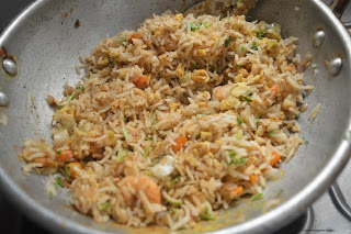 Step 7 - Prawn Fried Rice Recipe