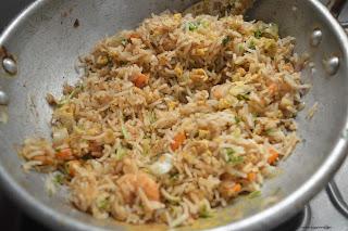Step 7 - Prawn Fried Rice Recipe