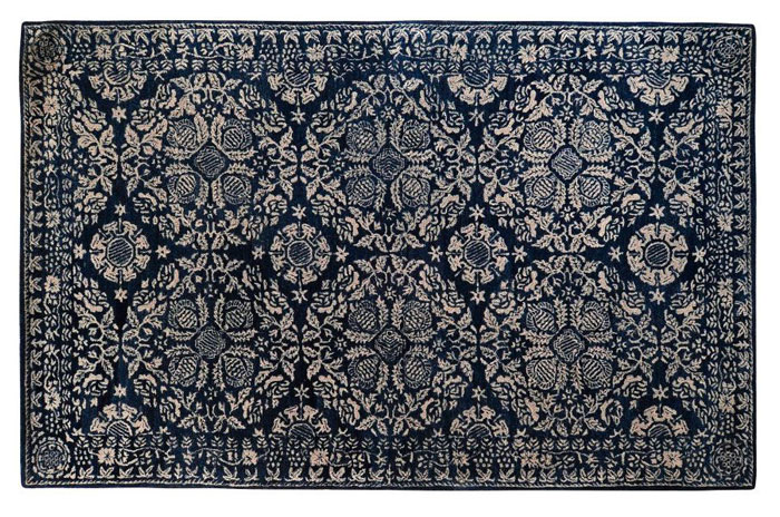 Dark Blue and White Rug from Birch Lane | 20 Classic Style Rugs for Any Budget at www.andersonandgrant.com