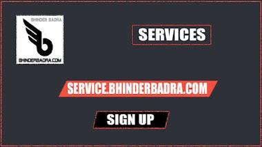 SIGN UP ON SERVICE.BHINDERBADRA.COM