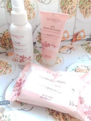 Marion rytuał japoński: krem do twarzy, tonik i chusteczki do demakijażu…