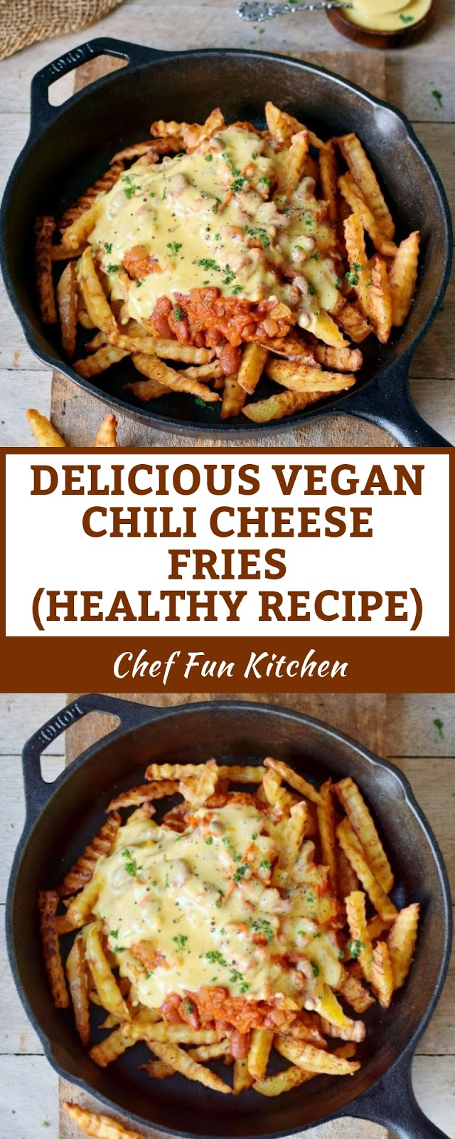 DELICIOUS VEGAN CHILI CHEESE FRIES | HEALTHY RECIPE