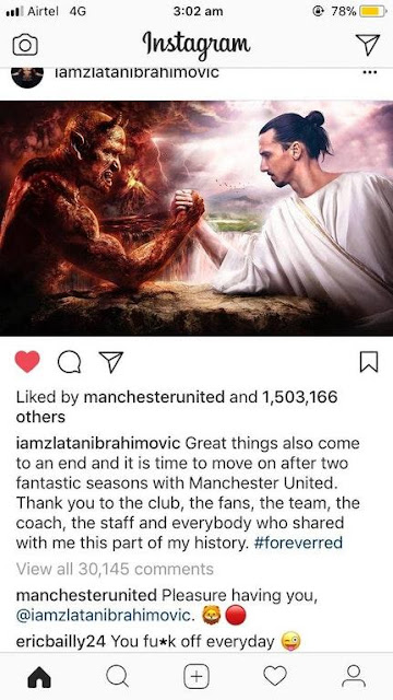 Candaan ala Bailly dan Ibrahimovic
