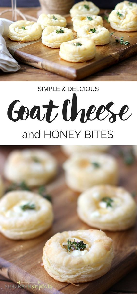 EASY GOAT CHEESE AND HONEY BITES