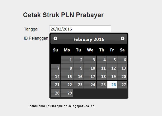 Langkah-langkah cara mencetak struk Token PLN / Pulsa Listrik Prabayar