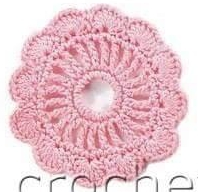 Patrón 1587: Flor a Crochet