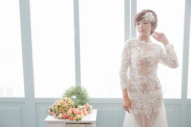 圖:手工婚紗