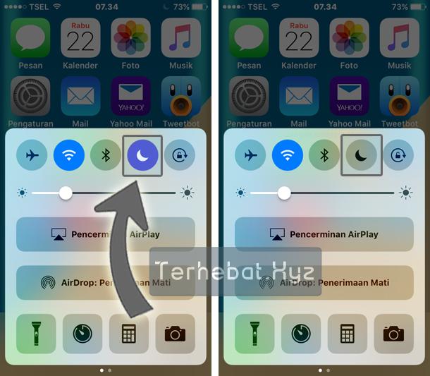 menghilangkan tanda bulat sabit di iPhone 6S