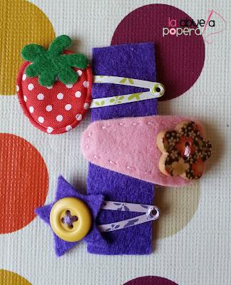 Horquillas para niña DIY La Abuela Popera