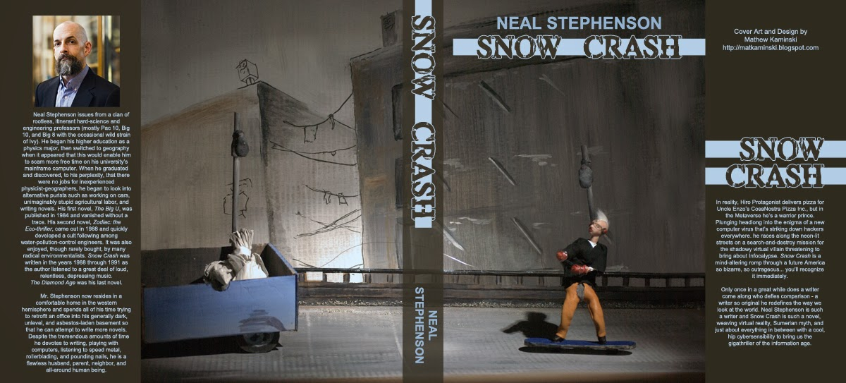 3D Illustration -- Snow Crash Cover