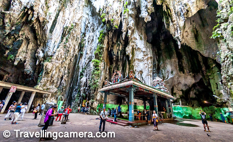Above photograph shows one of the ends of Batu caves where you see a temple which resembles a lot with temples you find in South India. In fact, there are lot of folks from South India who have been living in Malaysia for few generations now.