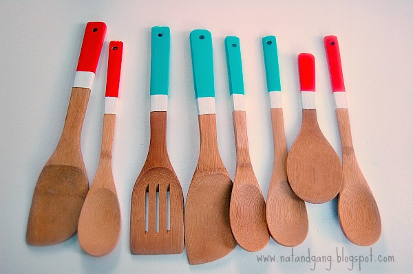 La gang à Nat: Painted Bamboo Utensils