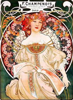 Symbole de l'Art Nouveau, Le peintre Tchèque Alphonse Mucha est mis à l'honneur au Musée du Luxembourg sur #LACN