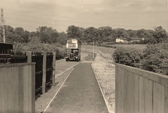 Image: The newly constructed Marshmoor footpath in the 1960s Image by Ron Kingdon, part of the Images of North Mymms Collection