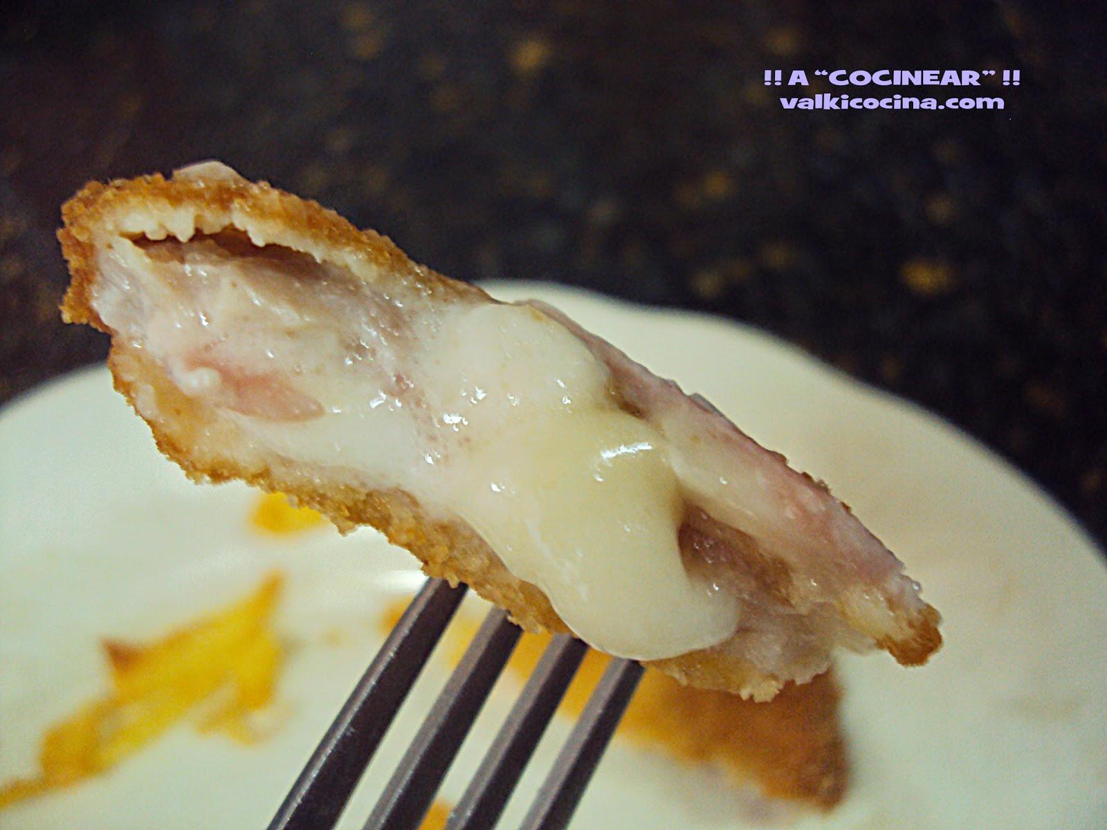 escalopines de lomo rellenos de queso y bacon