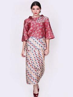 model baju batik atasan wanita pesta